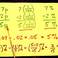Subtracting Percentages