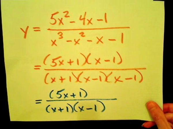 Holes in Rational Equations