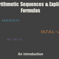 Arithmetic Sequences & Explicit Formulas