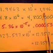Rewriting Scientific Notation