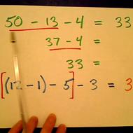 Writing a Vertical Subtraction Sentence