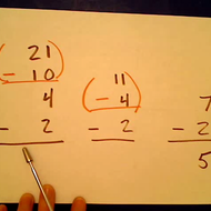 Writing a Horizontal Subtraction Sentence