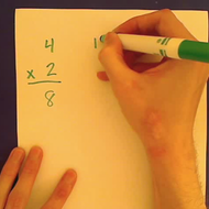 Writing a Vertical Multiplication Sentence