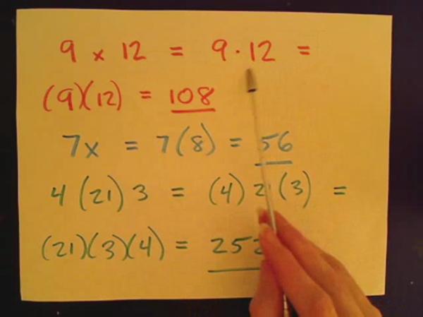 Writing a Horizontal Multiplication Sentence