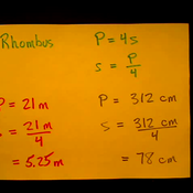 Determining the Side of a Rhombus from the Perimeter