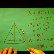 Surface Area of a Right Circular Cone
