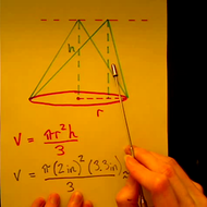 Volume of an Oblique Cone