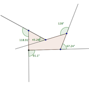 Exterior angles of a concave polygon tutorial sophia - Sum of exterior angles of polygon ...