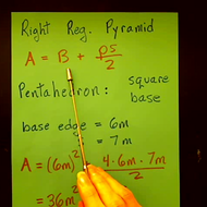 Solving for the Surface Area of a Pyramid