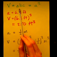Solving for the Volume of a Cube