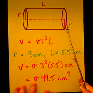 Solving for the Volume of a Cylinder