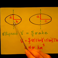 Solving for the Volume of an Ellipsoid