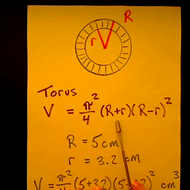 Solving for the Volume of a Torus
