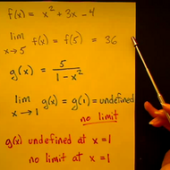 Substitution Method for Limits