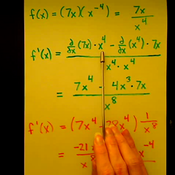 Using the Quotient Rule