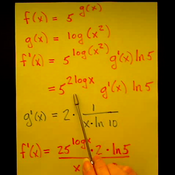 Taking the Derivative of an Exponential Function