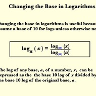 The Change-Of-Base Property for Logarithms