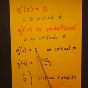 Differentiation and Critical Numbers