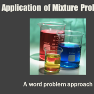 Application of Mixture Problems