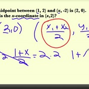 Finding a Missing Coordinate using the Midpoint Formula