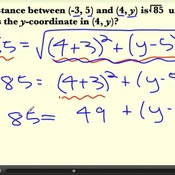 Finding a Missing Coordinate using the Distance Formula