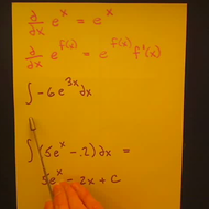 Taking the Integral of an Exponential Function
