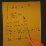 Integral of Cotangent