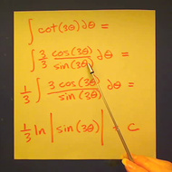 Taking the Integral of Cotangent