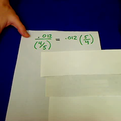 Dividing Decimals by Fractions