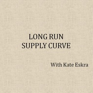 Long Run Supply Curve