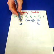 Binary Code for Alphabet