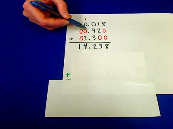 Adding Multiple Decimals