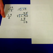 Dividing Hundredths by Tenths