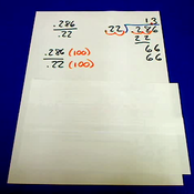 Dividing Thousandths by Hundredths