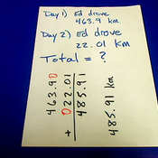 Decimal Addition in Word Problems