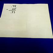 Decimal Subtraction in Word Problems