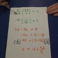 Multiplication and Division in Equations