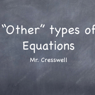 Solve Other Types of equations