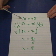Solving Multiplication Equations