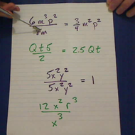 Monomials Divided by Monomials
