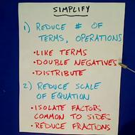 Simplifying an Equation