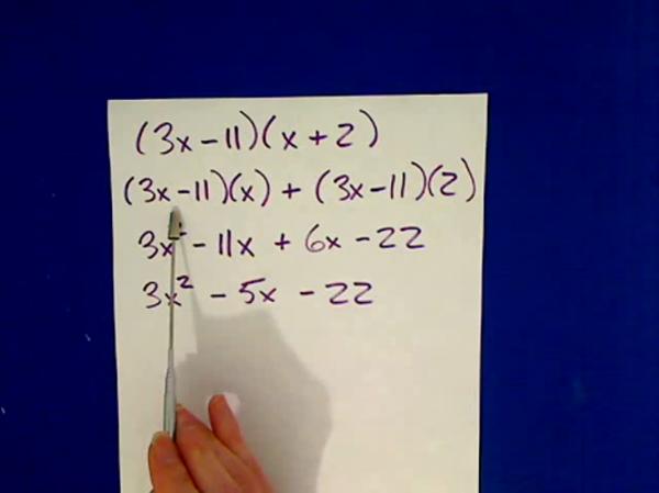 Multiplying Quadratic Factors