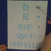 Multiplication Property of Rational Expressions