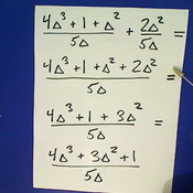 Algebraic Fractions with Like Denominators