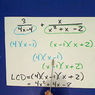 Algebraic Fractions with Unlike Denominators
