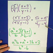 Multiplying Algebraic Fractions