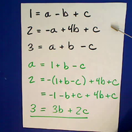 Three Variable Simultaneous Equations