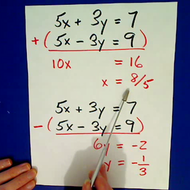 Basic Addition Method of Solving