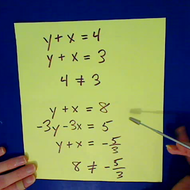 Simultaneous Linear Equations with No Solution