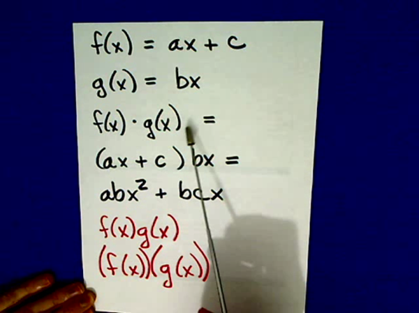 Multiplication and Division of Functions
